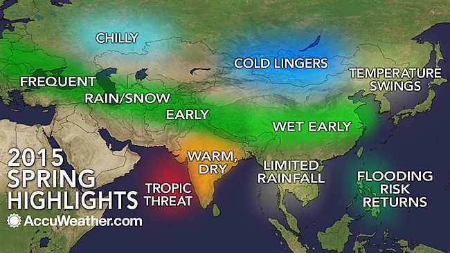 Asian Spring Forecast by Accuweather