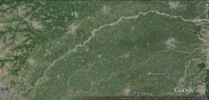 The 240 km long riverbed stretch from Hathnikund to Delhi where riverbed cultivation is practiced (Googleimage by Bhim Rawat)