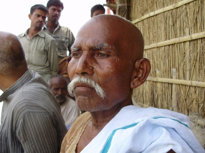 Sitaram Mukhia of Masaha Alam Village Photo by DK Mishra