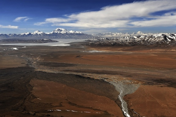 Retreating glaciers on the Tibetan Ranges Photo: Livescience.com