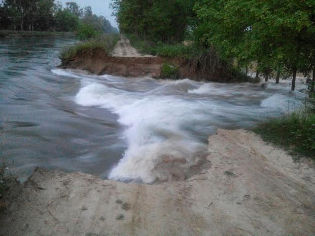 Augmentation Canal breach near Palewala Village