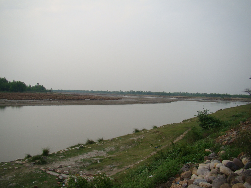 Yamuna River at Mawi, Shamli (03 April 2015)