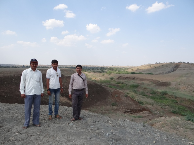 Macchindra, on the right with his friends and colleague at the dam site Photo: Parineeta Dandekar