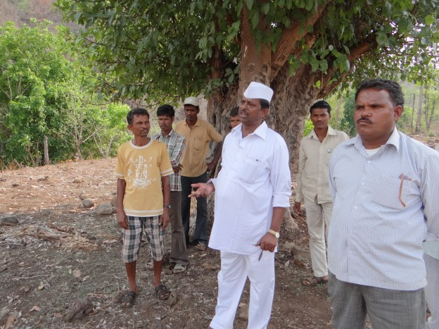 Mr. Jhirwal at the Jhari Dam site