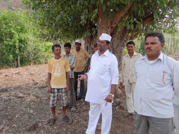 Mr. Jhirwal at the Jhari Dam site
