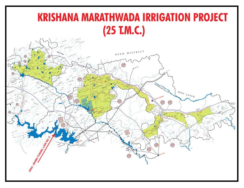 Index map of an older proposal of the Krishna Bhima Stabilisation Project from:http://cewrdaurangabad.org/KM.asp