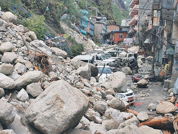 Arniko Highway landslide Photo from E Kantipur