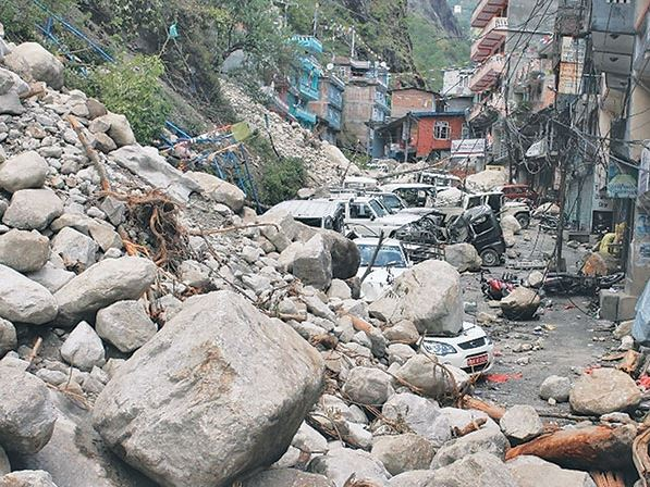 Arniko Highway landslide Photo from E Kantipur