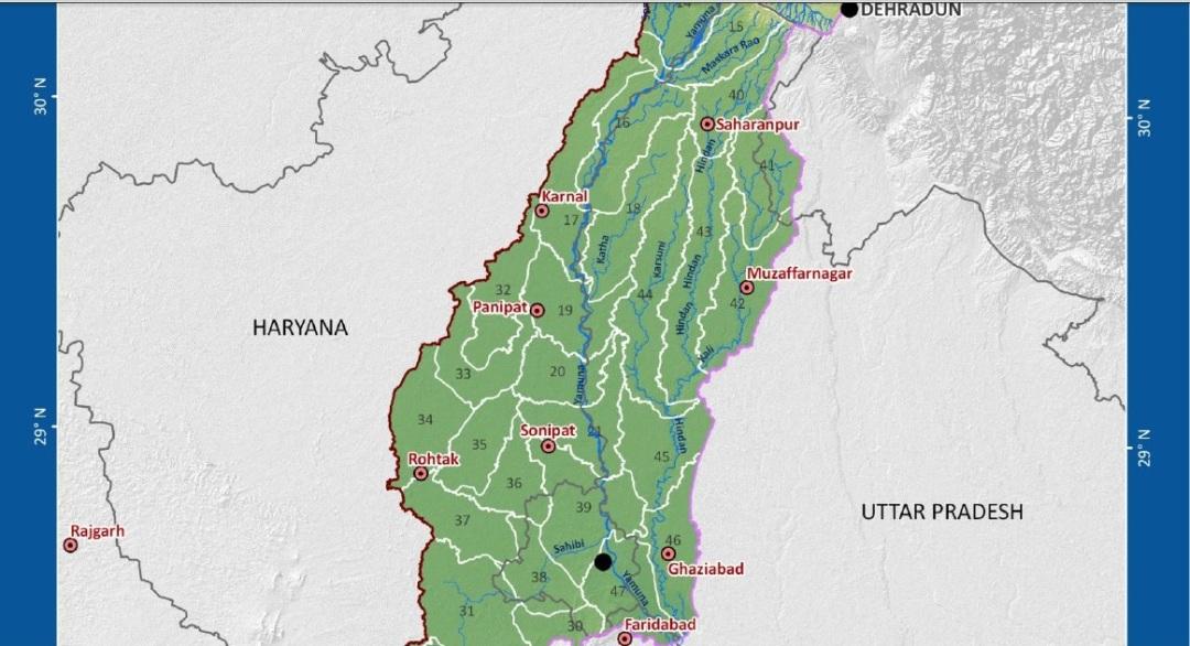 Hindon Yamuna Map (Source: WRIS Ganga Basin profile)