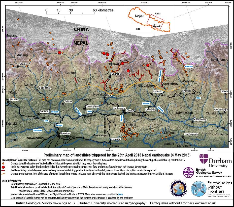 Nepal's Everest sinking 7.9 Earthquake of April 25-2015: Himalayan warning (5/6)