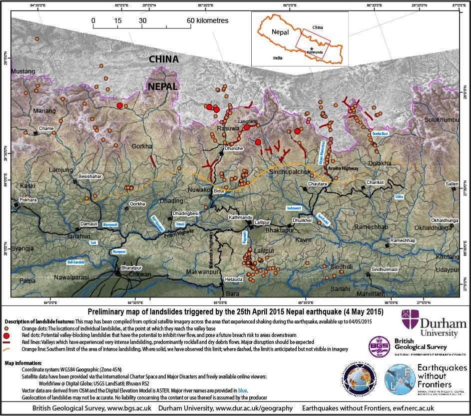 Landslide map EWP May 5, 2015