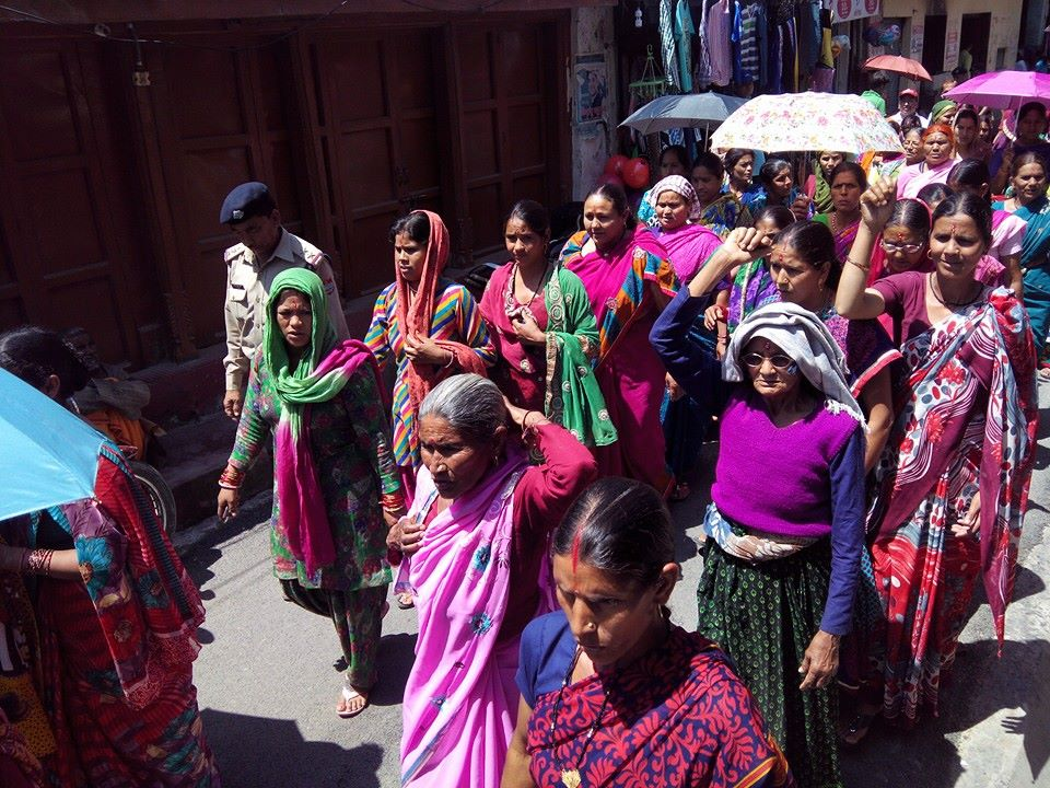 Maletha women in large number at recently concluded  protest rally (pics Sameer Raturi, HBA)