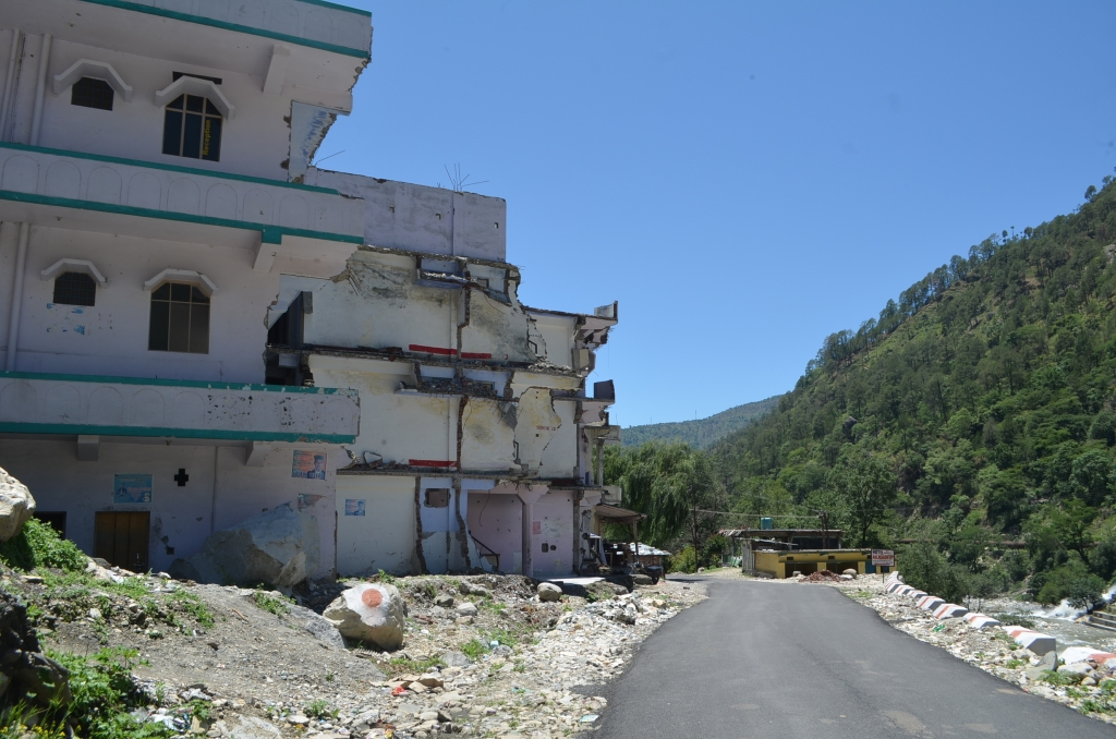 Hotel Buildings ravaged by June 2013 flood