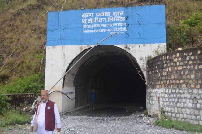 Outlet of VHEP tunnelat Hathiyari