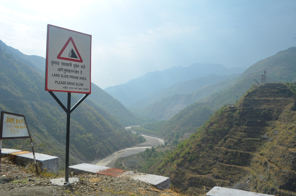 The Landslide warning board exacly on Lakhwar Damsite (all pics by author taken between 24-27 June 2015)