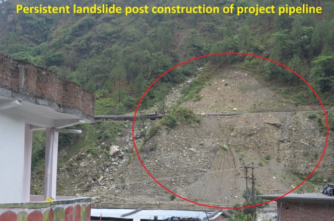 GSHP pipeline causing landslides