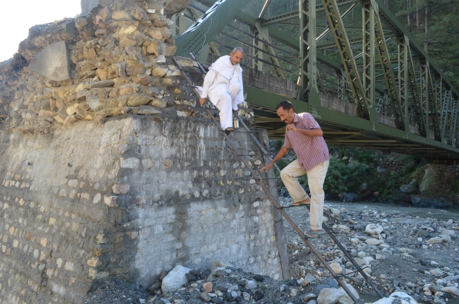 Than & Nagangaon village motor bridge lies unrepaired