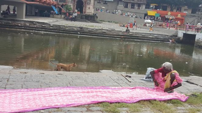 Goda Ghats before Kumbh Photo: Parineeta Dandekar