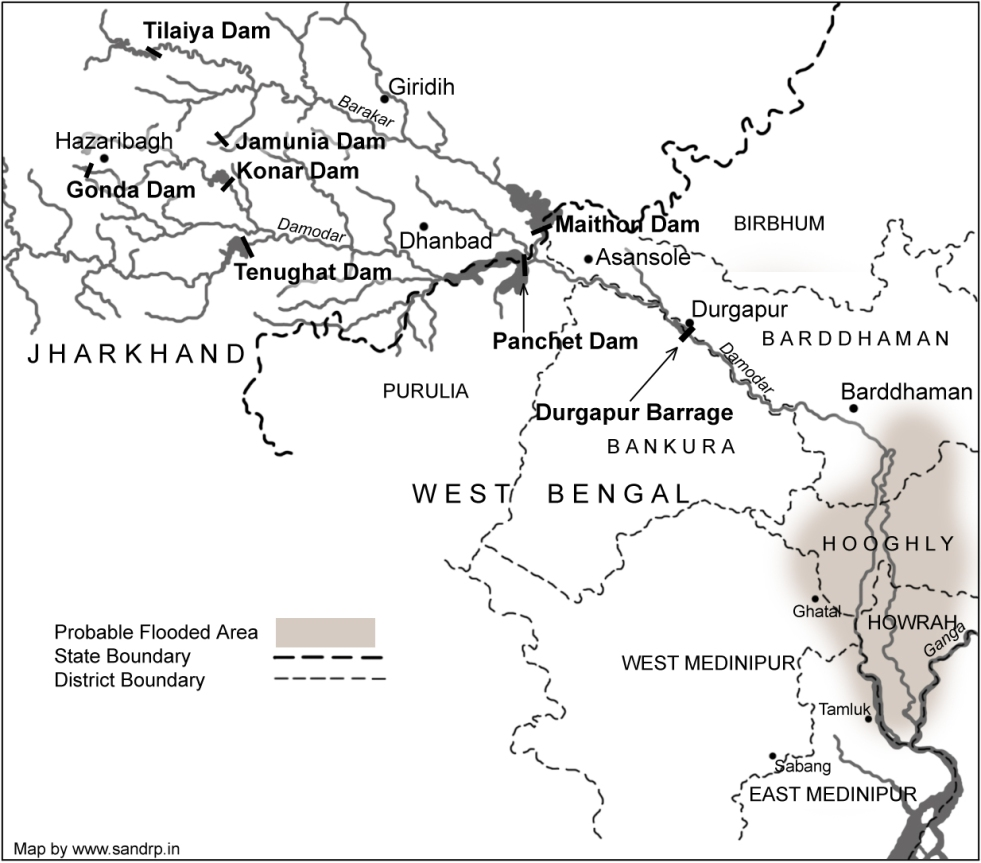 Damodar Valley Dams role in W Bengal Floods – DVC Dams could have on