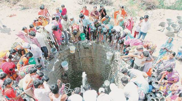 The water crisis has hit 12,000 villages across Latur, Osmanabad, Jalna, Beed and Parbhani districts. (Express Photo)