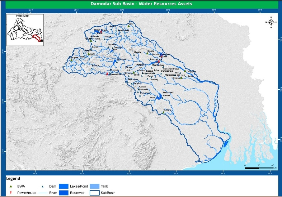 WRIS map of Damodar Valley Projects