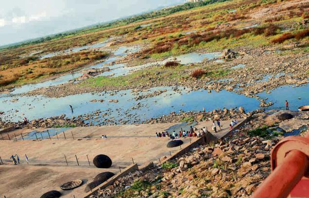 Dry Krishana River
