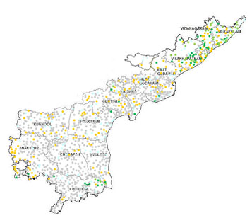 Andhra Pradesh Automatic Weather Stations Map