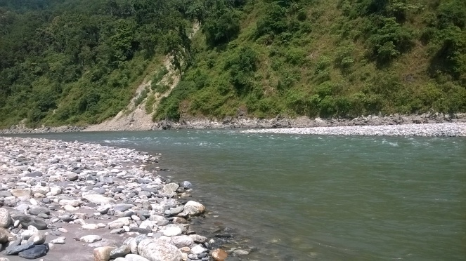 Rangit River further downstream, see the difference with earlier photo (Photo: Author)