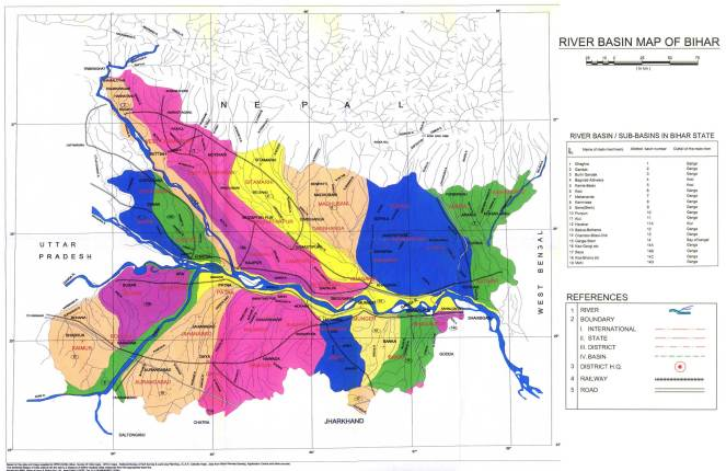 Bihar River Basin Map (Source: http://fmis.bih.nic.in/index.htm)