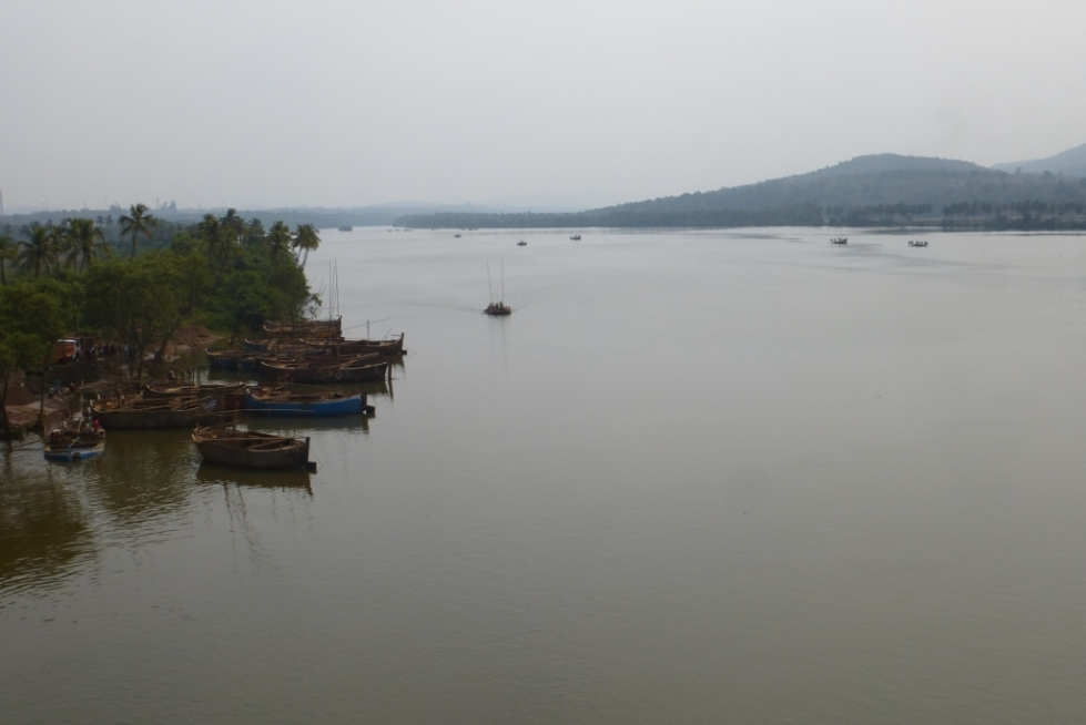 Mandovi River Goa Photo by author