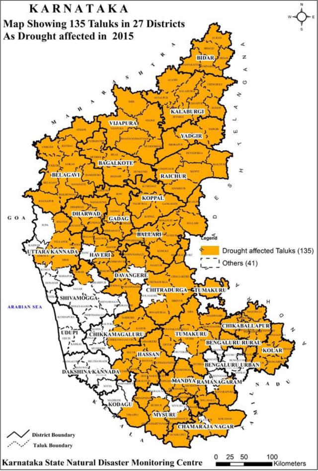 Karnataka drought map