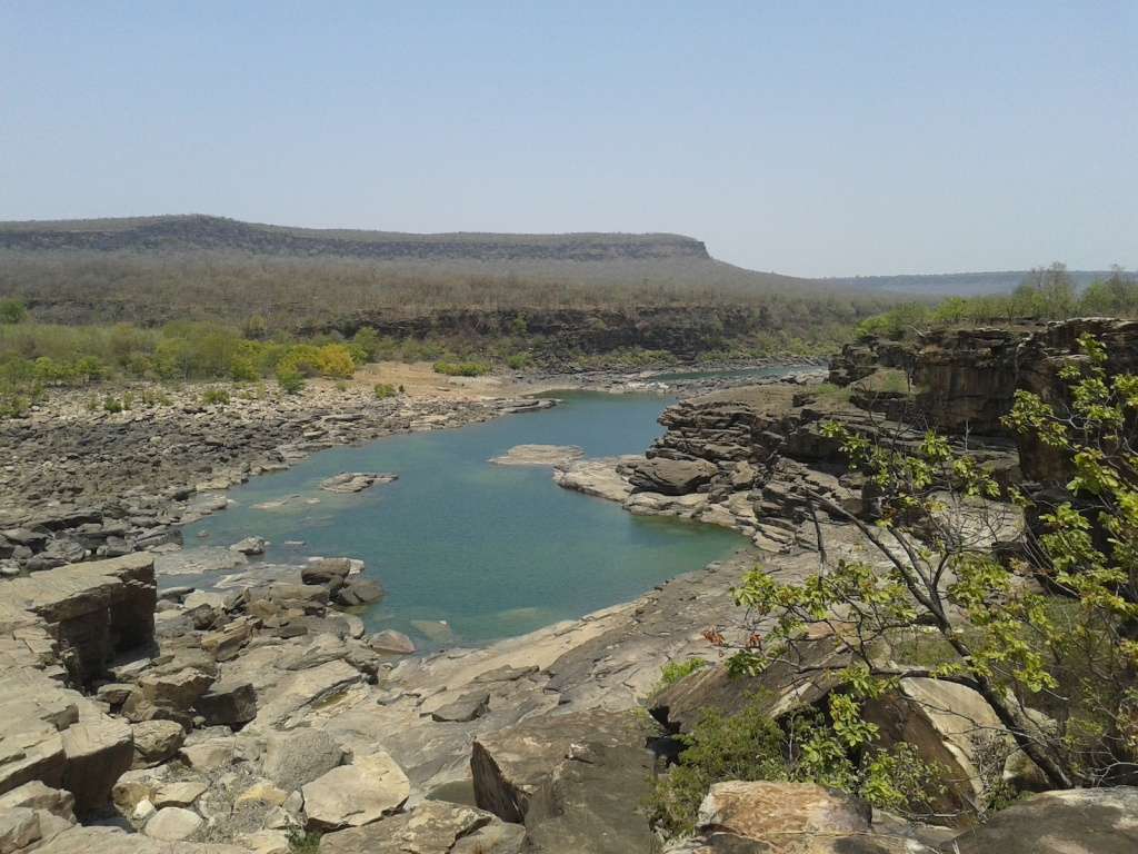 Deep water pool at Gehrighat in river Ken (Photo by Manoj Misra)