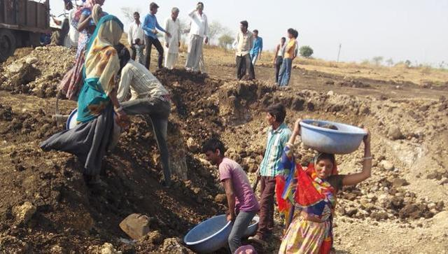 Over 3 lakh truckloads of soil had been excavated and works worth Rs 40 crore had been successfully completed by farmers. (HT photo)