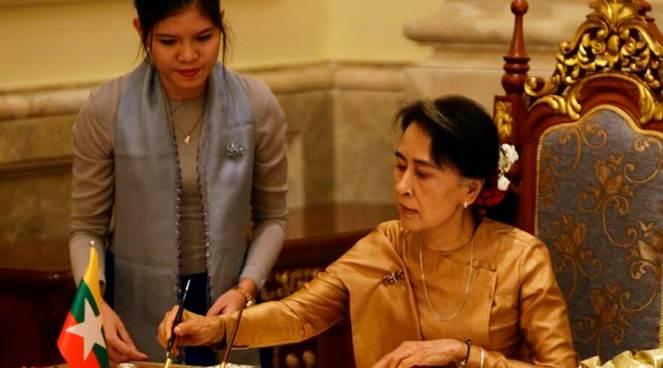 Myanmar Laos President