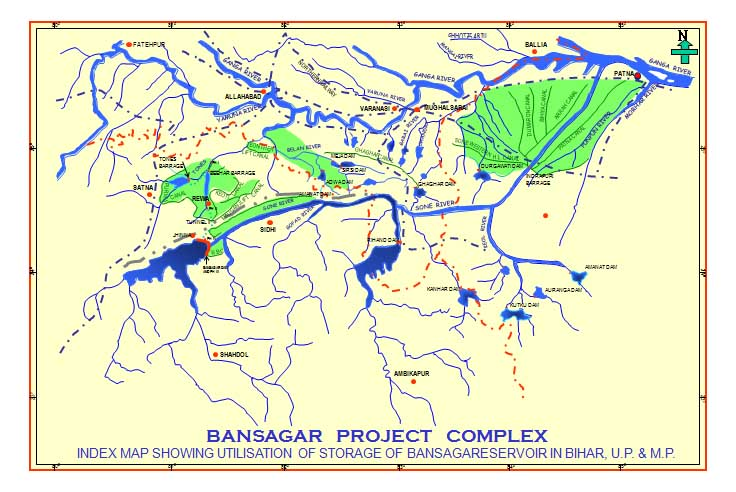 Official Sone Basin Map from Bansagar Control Board