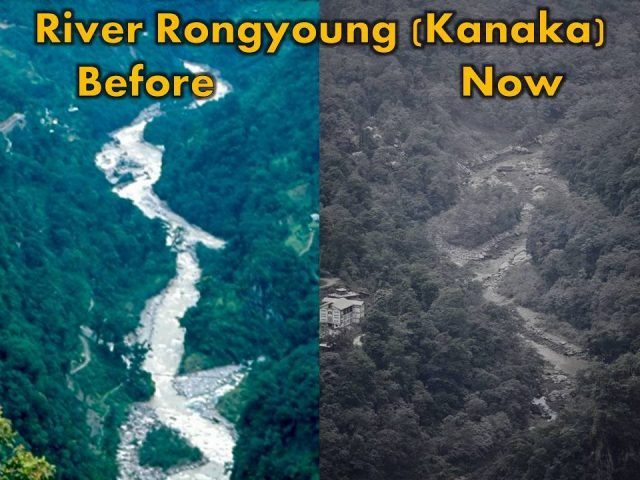 Darjeeling Chronicle depiction of before and after situation