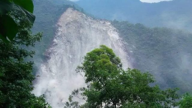 Extent of Dzongo Landslide (Photo from Save the Hills)