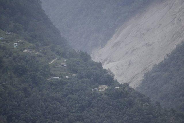 Lower part of Dzongu Landslide