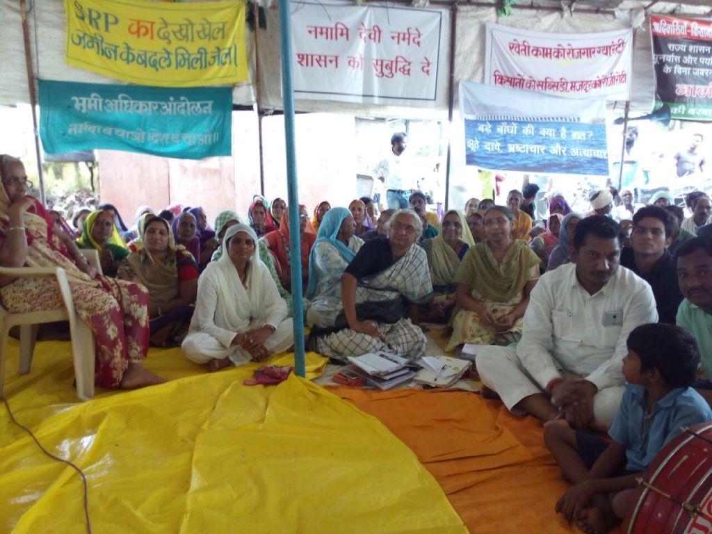 Narmada Satyagraha at Rajghat, August 2016