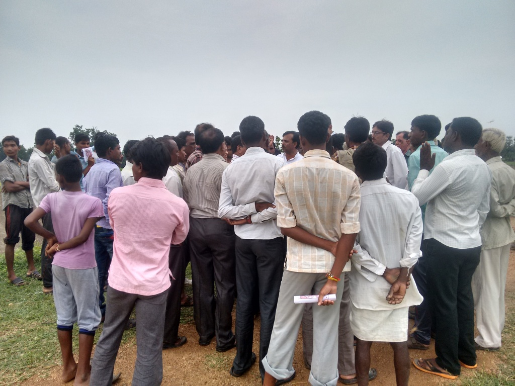 Villagers gathered with complaints at Asolamendha