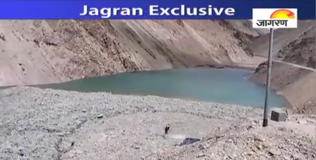 Landslide Dam over Sonam River in Uttarkashi  District in Uttarakhand (Photo from Jagran.com)
