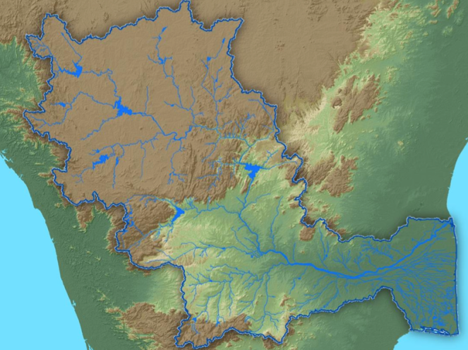 Cauvery Basin Map (Source: WRIS Basin report cover)