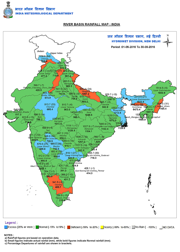 welcome development river basin wise rainfall maps from imd sandrp
