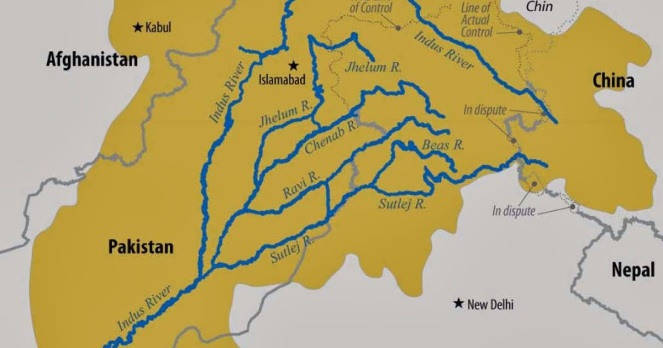 Indus Basin Map (Source: Kalyansir.net)