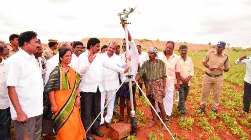 Rain Guns in Andhra Pradesh (Photo: Deccan Chronicle)