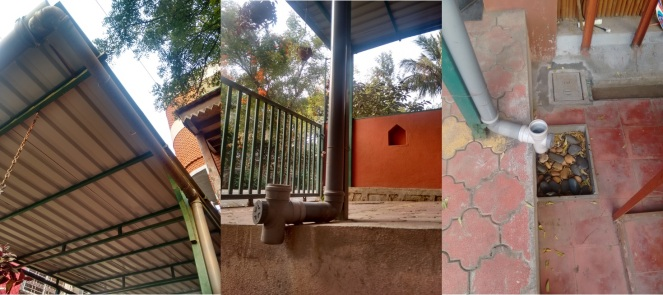 Rooftop Rainwater Harvesting at a residence in Pune (Photo: SANDRP)