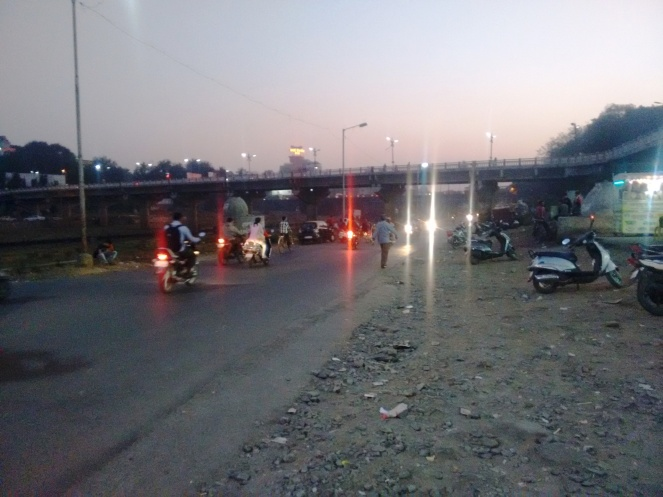 Two wheeler road in Mutha left bank near Deccan