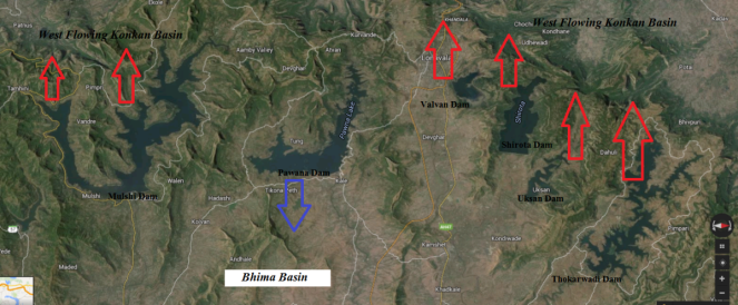Westward diversion of Bhima waters (Source: SANDRP)