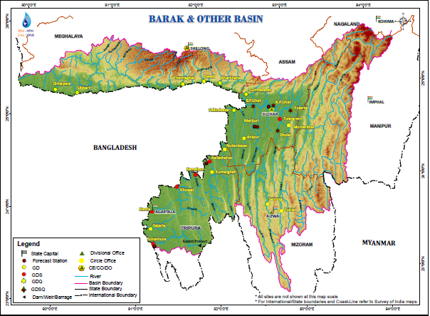 NorthEast India ExcludingBrahmputra Rivers Profile SANDRP - River system map
