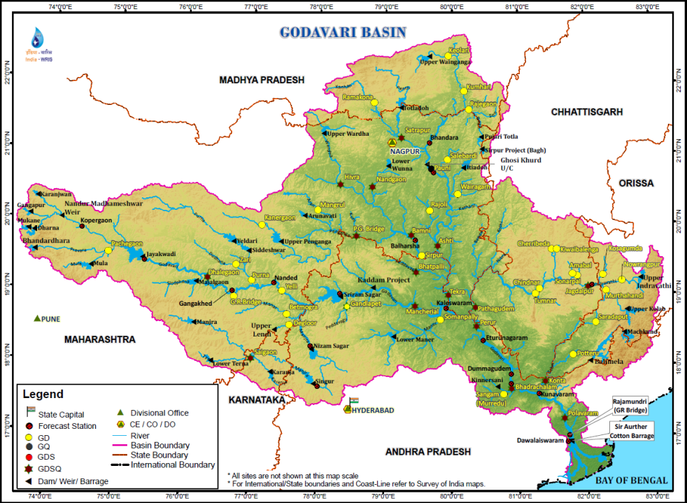 Godavari River Map Godavari Basin in Maharashtra: A Profile – SANDRP Godavari River Map
